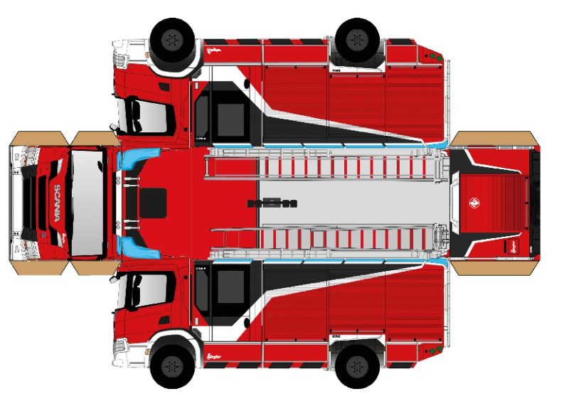 ZIEGLER HLF 20 Scania Bastelvorlage
